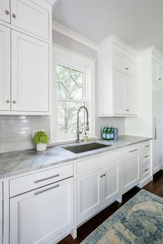 Quartzite Countertop Counters are Leathered Super White Quartzite Quartzite Countertop white natural stone with grey veins Quartzite Countertop Quartzite Countertop White Kitchen With Gray Countertops, White Quartzite Countertops, Backsplash For White Cabinets, Kitchen Black, Upper Cabinets, Kitchen Backsplash, Condo Kitchen, Kitchen Redo, Kitchen Interior