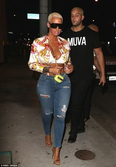 Amber Rose Night Out Style Arrives at Catch LA in West Hollywood Amber Rose Night Out Style kommt am Catch LA in … West Hollywood, Hollywood Night, Amber Rose Style, Dorothy Rose, Jolie Lingerie, Swagg, Black Women, Sexy Women, Night Out
