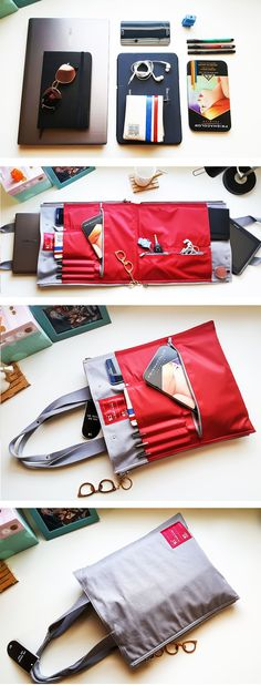 A multi-functional laptop bag... If you get tired of one color you can flip it around and then it will look like a whole new bag. :) #diybag