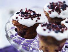 Cupcakes med marcipan og hindbær