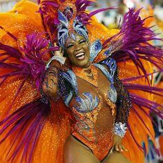 A reveller of the Salgueiro samba school participates on the first night of the annual carnival parade in Rio de Janeiro's Sambadrome, February REUTERS/Sergio Moraes Carnival Parade, Brazil Carnival, Carnaval In Rio, Mardi Gras, Carnival Decorations, Carnival Ideas, Samba Costume, Dance Costume, Caribbean Carnival