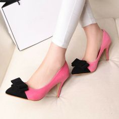 Fashionable Pink PU Pointed Closed Toe Stiletto High Heel Basic Pumps Pointed Toe Heels, High Heels Stilettos, Pumps, Wholesale Jewelry, Jewelry Watches, Kitten Heels, Jewelry Accessories, Fine Jewelry, Pink