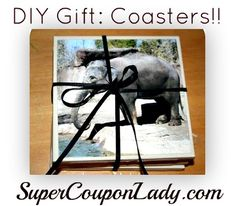 DIY Gift: Make your own Personalized coasters