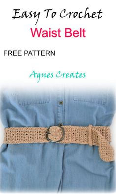 Beginner Crochet, Crochet For Beginners, Learn To Crochet, Free Crochet, Crochet Belt, Knit Crochet, Afghan Crochet Patterns, Knitting Patterns, Easy Crochet Projects