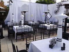 Formal Dining Decor, Black And White Wedding Theme, Wedding Draping, Drapery, Curtains, Head Tables, Inexpensive Wedding Venues, Floating Candles, Event Design