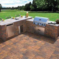 ideas for your home in nicolock pavers inspiration gallery - Patio Grill Ideas