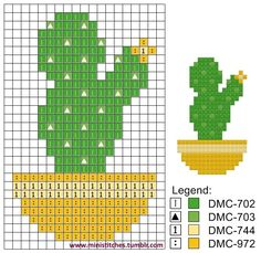 He sat in the magician's audience dressed as a cactus. He was a plant. Cactus Cross Stitch, Cross Stitch Tree, Mini Cross Stitch, Cross Stitch Flowers, Cross Stitching, Cross Stitch Embroidery, Embroidery Patterns, Cross Stitch Designs, Cross Stitch Patterns