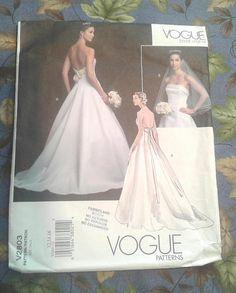 Unique Vogue Bridal Original Strapless Wedding Dress Pattern