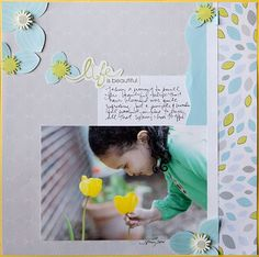 Life is Beautiful Reflections Scrapbooking Layout Idea from Creative Memories