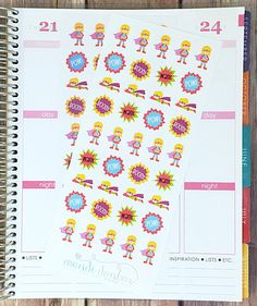 39 Blonde Superhero Stickers – Perfect for Erin Condren, Plum Paper Planner, Inkwell Press, Filofax, Scrapbooking & More