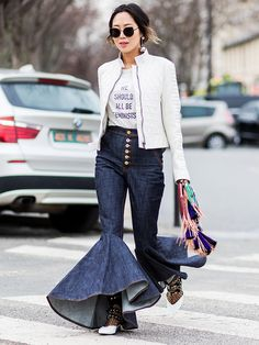 The Unconventional Denim Trend That's Suddenly Everywhere | WhoWhatWear.com | Bloglovin'