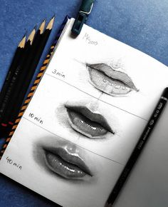 We talk about Art, Design and Architecture, feature talented artists from around the world.Come for the Art and checkout our Apps. Realistic Sketch, Realistic Pencil Drawings, Art Drawings Sketches Simple, Pencil Art Drawings, Mouth Drawing, Drawing Lips, Drawing Drawing, Figure Drawing, Lips Sketch