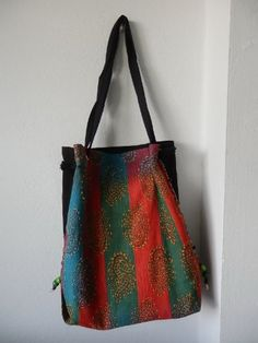 Cotton Hobo Bag Purse Thai Shoulder Handbag Sea Horse Embroidery Handmade By Cotton To