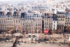 Paris' roof from Beaubourg Tilt-shift effect