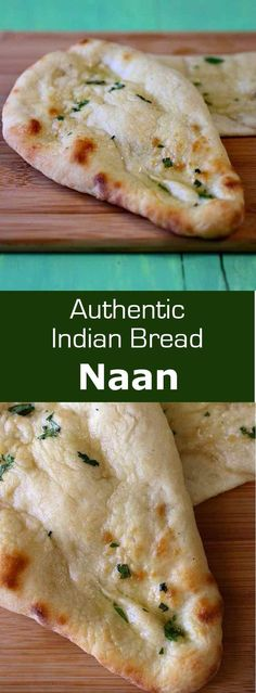 Naan or nan is a leavened, clay oven-baked flatbread popular in the cuisines of West, Central and South Asia, and more particularly in India and Pakis. Indian Bread Recipes, Recipes With Naan Bread, Asian Recipes, Ethnic Recipes, Indian Naan Bread Recipe, Naan Bread Recipe No Yeast, Indian Breads, Pizza Recipes, Pan Indio