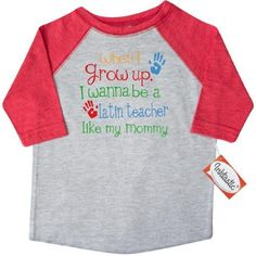 Inktastic Latin Teacher Like Mommy Toddler T-Shirt Child's Kids Baby Gift Teacher's Daughter Childs My Cute Occupation Apparel Job Future Handprints Tees. Child Preschooler Kid Clothing Hws, Size: 2T, Grey