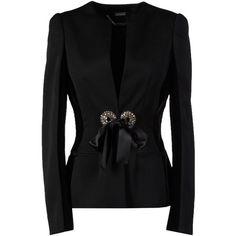 Alexander Mcqueen Blazer (14.775.830 VND) ❤ liked on Polyvore featuring outerwear, jackets, blazers, blazer, black, alexander mcqueen jacket, alexander mcqueen, long sleeve blazer, velvet jackets and long sleeve jacket