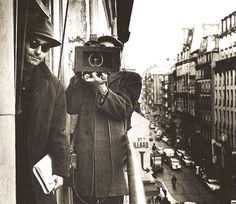 Jean- Luc Godard (left) and Raoul Coutard, Paris, 1960 - by Raymond Cauchetier