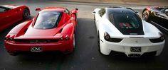 Ferrari Enzo and Ferrari 458