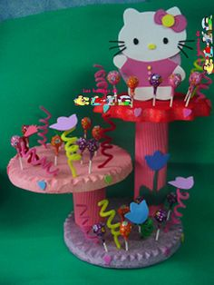 mesa de fiesta infantil | centros de mesa para fiestas infantiles. centros de mesa de hello ...