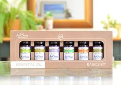 ArOmis - Certified Organic Essential Oils Starter Kit - 6 oils - Lavender, Peppermint, Lemongrass, T Essential Oil Starter Kit, Essential Oil Brands, Essential Oils Guide, Organic Essential Oils, Essential Oil Diffuser, Organic Oils, Aromatherapy Diffuser, Sweet Orange Essential Oil, Fungal Infection