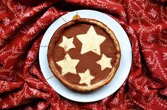 Weihnachtlicher Käsekuchen mit Lebkuchenboden