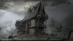 ArtStation - Wood house , szabat .