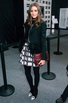 Olivia Palermo at the Vera Wang Fall 2013 show in New York.