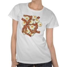 Bacon and Eggs Pattern Shirt by Tees2go