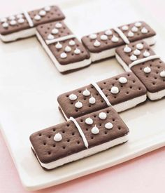 Domino Sandwiches- cute for a game night