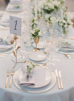 Jannicke&Paal's pale blue and gold reception beautifully planned and designed by Blue Gold Wedding, Rose Wedding, Dream Wedding, Wedding Day, Diy Wedding, Trendy Wedding, Elegant Wedding, Wedding Reception, Provence Wedding
