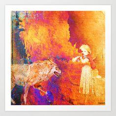 Little Red Riding Hood Art Print by ganech - $16.64