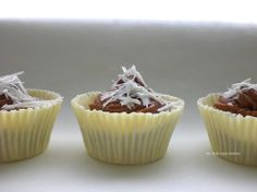 White Chocolate Cups filled with a Mascarpone and Chocolate Cream