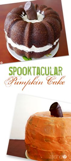 A Spooktacular Pumpkin Cake! #howdoesshe #desserts howdoesshe.com