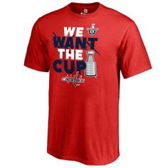 2c130a061 Men s Washington Capitals Fanatics Branded Red 2017 NHL Stanley Cup Playoff  Participant Blue Line T-Shirt