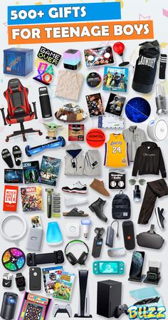 See 500+ Teen Boy Gifts! Whether you're looking for Christmas or birthday gifts for teen boyfriends, sons, or nephews, this list has it. We've scoured the stores all year long to create the ultimate Birthday and Christmas Wish List for teenage guys. Best Boys Christmas Gifts, Christmas Gift List, Teenage Girl Gifts Christmas, Christmas Gifts For Girlfriend, Christmas Fun, Cool Gifts For Teens, Gifts For Teen Boys, Teenage Guys, Tween Gifts