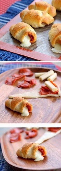 Pepperoni Cheese Stick Roll Ups Recipe