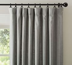 Emery Linen/Cotton Pole Pocket Drape, 50 x Blue Dawn At Pottery Barn - Rugs & Windows - Drapes & Curtains - Linen