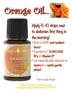 Young Living Orange Essential Oil....My Member Number: 1458528. or my website.... http://tammy.marketingscents.com/