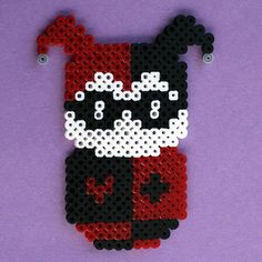 Perler Bead Chibi Bean Batman Villian Harley Quinn Fridge Magnet or Wall Art: