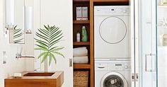 Uma maneira de deixar a área de serviço organizada é apostar em armários embutidos - laundry room built-ins | My projects | Pinterest | Laundry, Laundry Rooms …