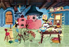 Retta Scott Worcester's lovely illustrations for Walt Disney's Cinderella Little Golden Book Cinderella Book, Walt Disney Cinderella, Disney Pixar, Disney Cartoons, Retro Disney, Vintage Disney, Disney Love, Vintage Art, Megan Hess