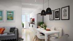 Apartament in stil scandinav: simplitate, arta si culoare- Inspiratie in amenajarea casei - www.povesteacasei.ro