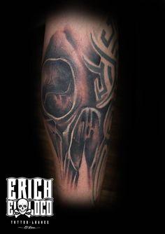 Tattoo Skull Cover Up Tattoo Artists, Skull, Tattoos, Cover, Tatuajes, Tattoo, Tattos, Skulls, Sugar Skull
