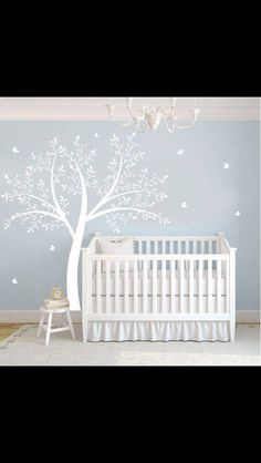 Items similar to Hot Sale Tree Wall Murals Living Room Wall Decals Office Tree Decals Nature Trees Decal--Set of 4 big birch trees H) on Etsy Nursery Twins, Baby Boy Nurseries, Nursery Room, Neutral Nurseries, Baby Bedroom, Baby Room Decor, Kids Bedroom, Nursery Wall Decals, Vinyl Wall Decals