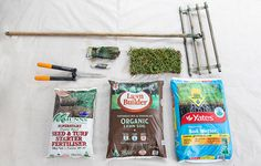 Try laying some brand-spanking new turf! How To Lay Turf, Lawn Soil, Diy Home Cleaning, Top Soil, Environmental Health, Brick Patterns, Gardening Gloves, Clean House