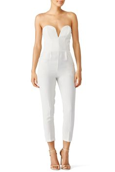 Rent Ivory Sweetheart Jumpsuit by Amanda Uprichard for $35 only at Rent the Runway.