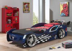 Łóżko samochód auto Grand Turismo niebieskie http://dladziecka-net.pl/