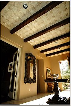 Beautiful patterned ceiling using Modello Designs on canvas by Carmen Benoit of AZ's Carmen Illustrates.