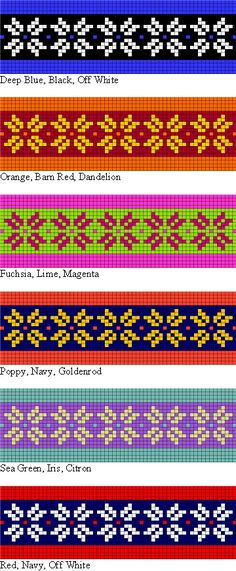 colorwork possibilities for the Two Strands Headband free knitting pattern for teaching Norwegian and Fair Isle style stranded knitting Fair Isle Knitting Patterns, Bead Loom Patterns, Knitting Charts, Knitting Stitches, Knitting Designs, Free Knitting, Crochet Patterns, Knitting Looms, Crochet Chart